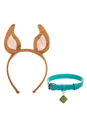Scooby Doo Collar and Headband Cosplay Set