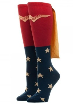 Women's Caped Knee High Wonder Woman Movie Socks
