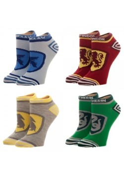 Harry Potter Crests 4PK Junior's Ankle Socks