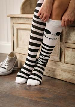 Womens Jack Skellington Over The Knee Socks
