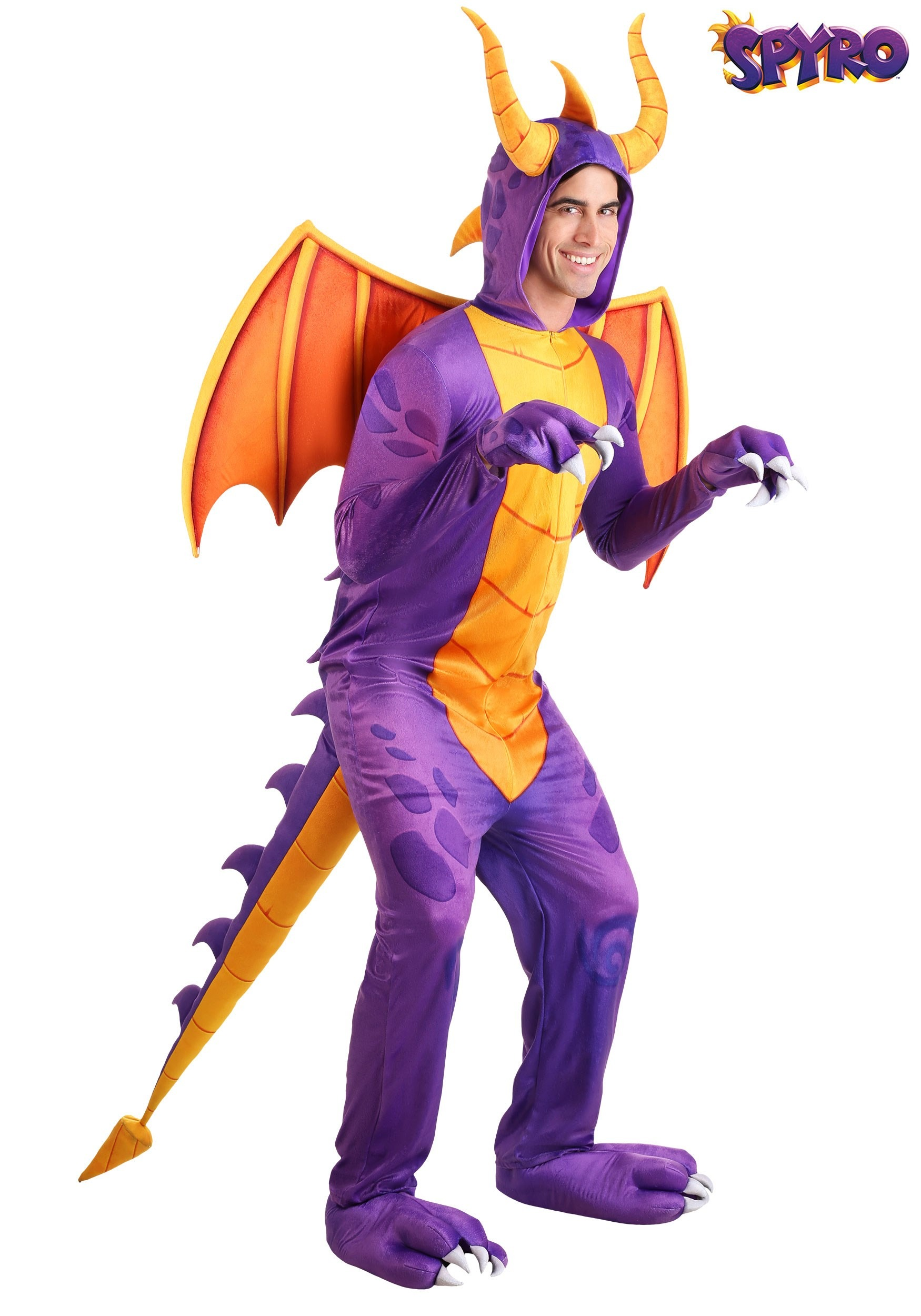 Mythical Creatures Halloween Costumes.Spyro The Dragon Adult Jumpsuit Costume