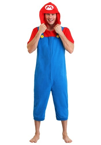 Click Here to buy Mens Mario Cosplay Romper from HalloweenCostumes, CDN Funds