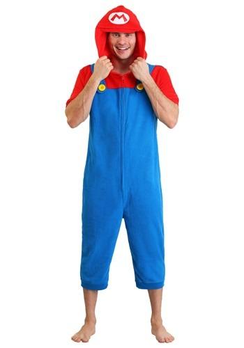 Mario Men's Cosplay Romper