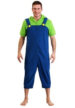 Luigi Men's Cosplay Romper Update Main