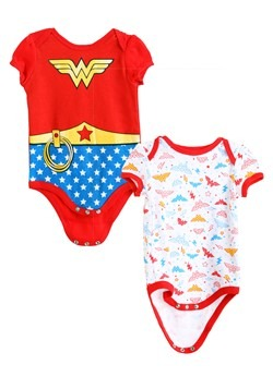 Girls Wonder Woman Newborn Onesie 2-Pack main new