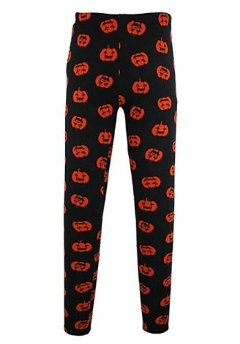 Womens Halloween Pumpkin Leggings