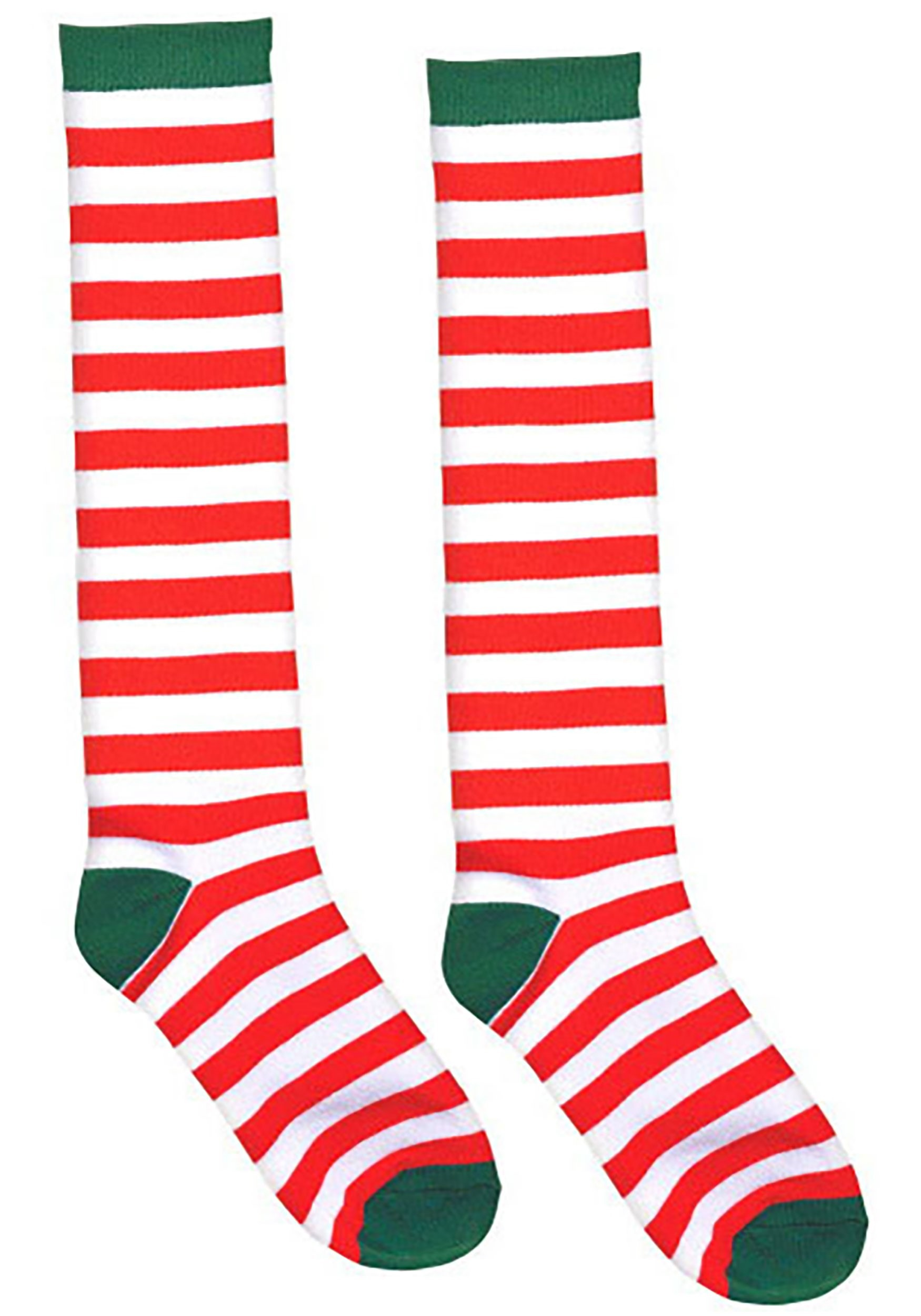 Adult White and Red Striped Socks