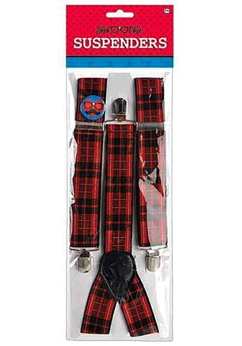 Click Here to buy Plaid Nerd Suspenders Accessory from HalloweenCostumes, CDN Funds