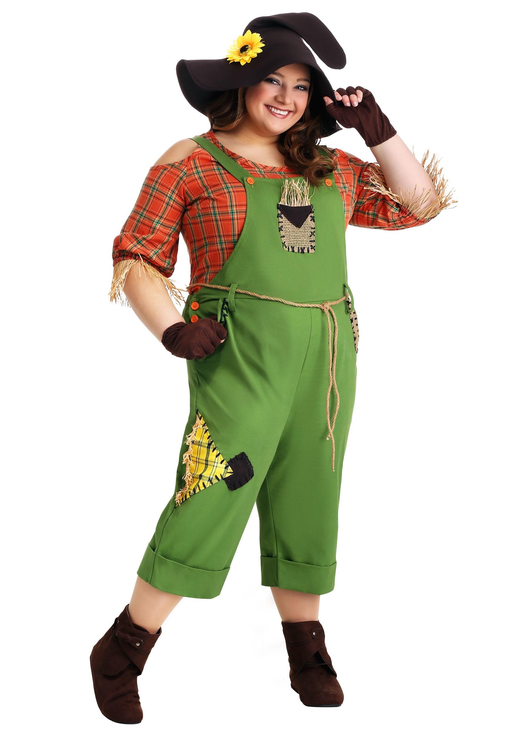 Women's Plus Size Scarecrow Costume