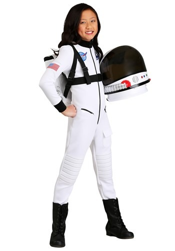 Girl's White Astronaut Costume