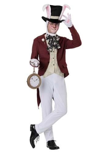 Plus Size Mens White Rabbit Costume