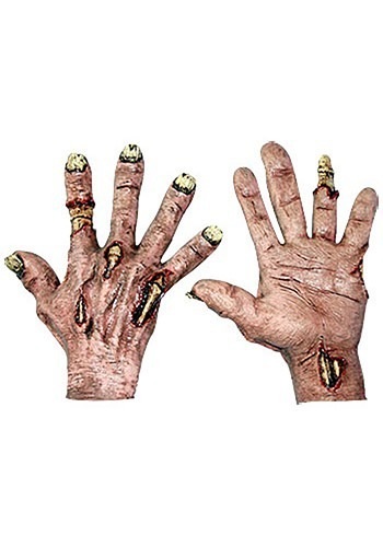 Zombie Flesh Hands By: Ghoulish Productions for the 2015 Costume season.