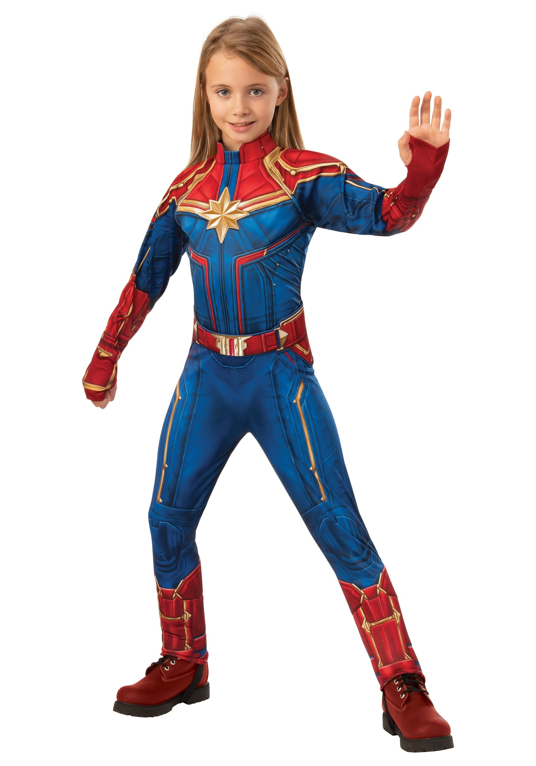 Captain Marvel Deluxe Child Costume Girl Superhero Costumes Great quality suit very comfortable and lightweight. deluxe captain marvel child costume