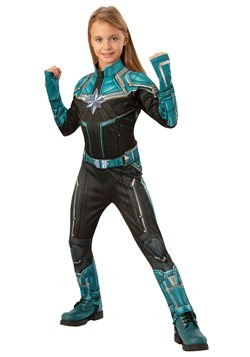 Captain Marvel Kree Suit Deluxe Girls Costume update