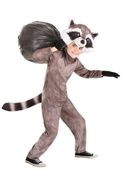 Kid's Realistic Raccoon Costume Main 3