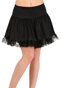Womens Black Lace Petticoat