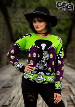 Adult Beetlejuice Lydia Deetz Ugly Halloween Sweater 1