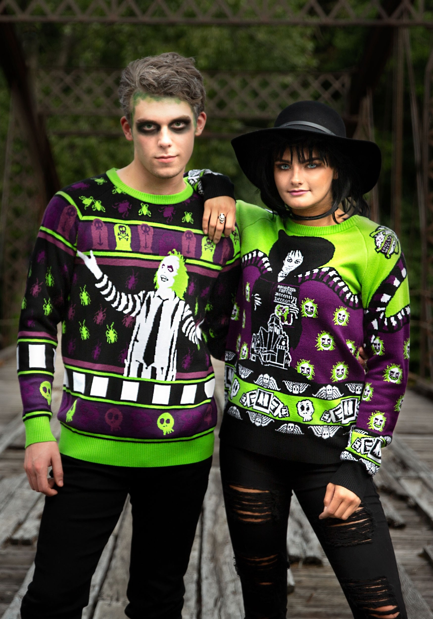 Beetlejuice Lydia Deetz Halloween Sweater For Adults