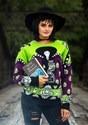 Adult Beetlejuice Lydia Deetz Ugly Halloween Sweater alt2