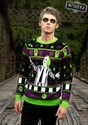 Beetlejuice It's Showtime! Adult Ugly Halloween Sweater 1