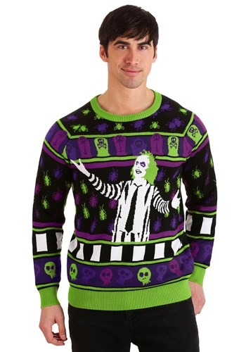 Beetlejuice Its Showtime! Adult Halloween Sweater
