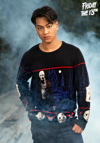 Friday the 13th Camp Crystal Lake Halloween Sweater 1