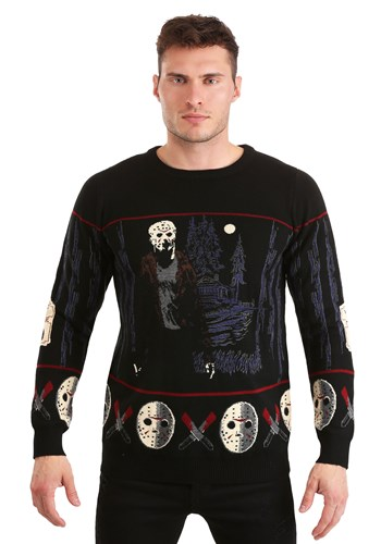 Friday the 13th Camp Crystal Lake Halloween Sweater