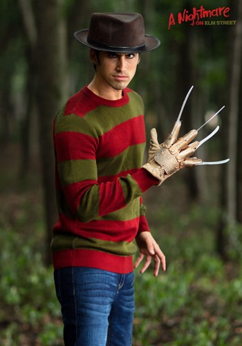 Striped Nightmare on Elm Street Freddy Adult Sweater 1