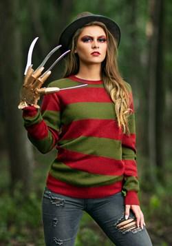 Striped Nightmare on Elm Street Freddy Adult Sweater alt1