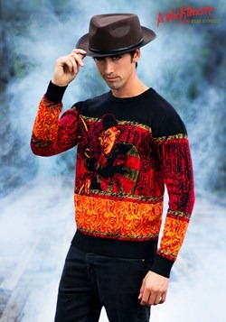Nightmare on Elm Street Freddy Adult Halloween Sweater 1