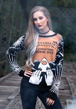 Adult Celestial Spirit Board Halloween Sweater 1
