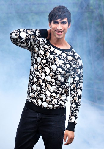 Adult Skulls Galore Halloween Sweater 1