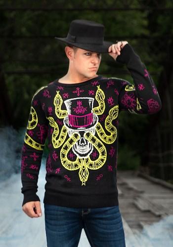 Voodoo Skull Halloween Sweater 1