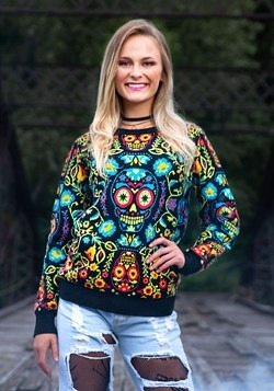 Sugar Skull Halloween Sweater 1