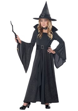Ladies Black /& Purple Spellbound Witch Fancy Dress Halloween Costume