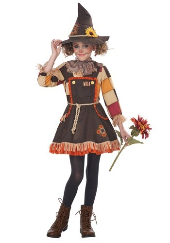 Click Here to buy Patchwork Scarecrow Girls Costume from HalloweenCostumes, CDN Funds