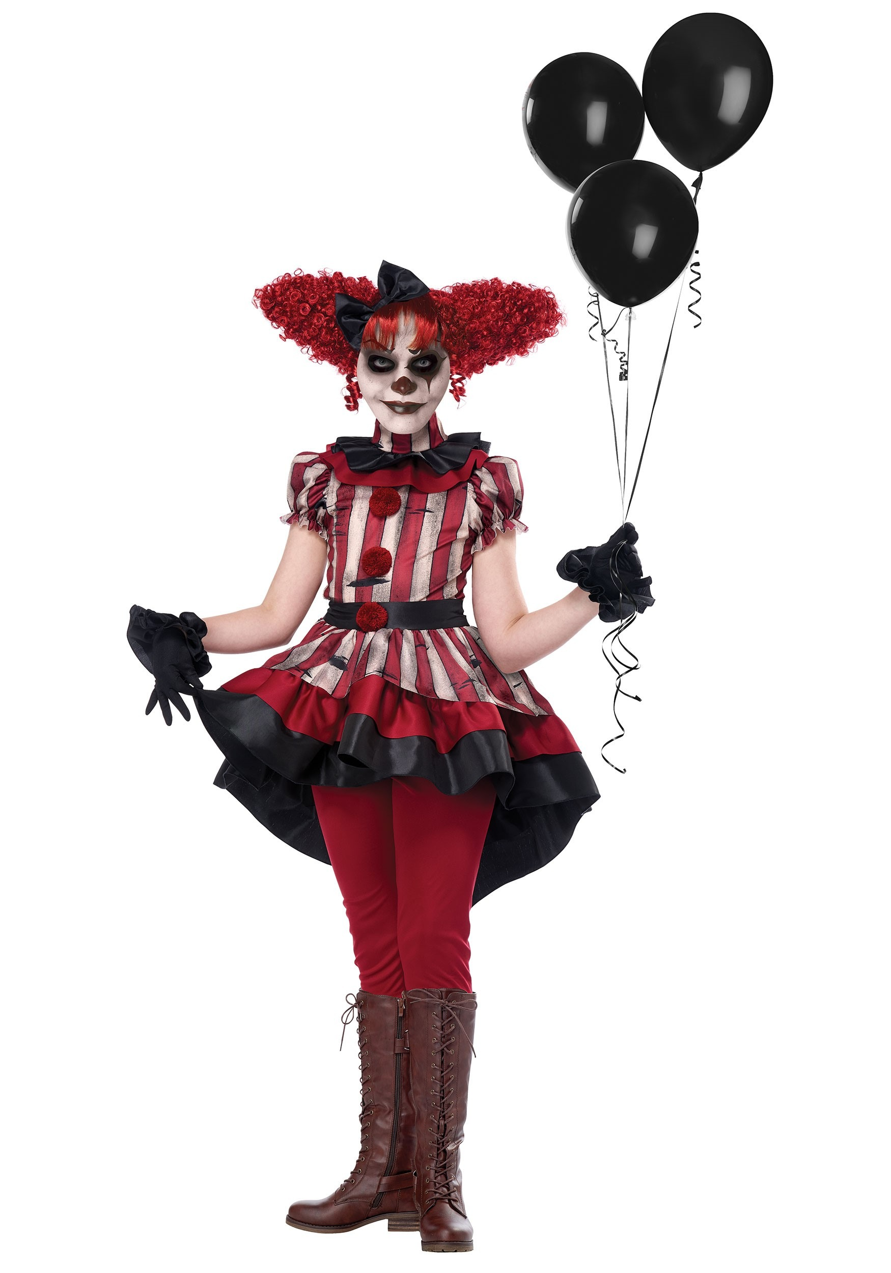 Clown Halloween Costumes For Girls.Wicked Clown Costume For Girls