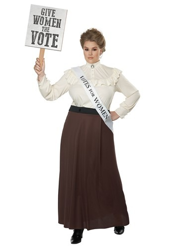 Women's Plus Size English Suffragette Costume