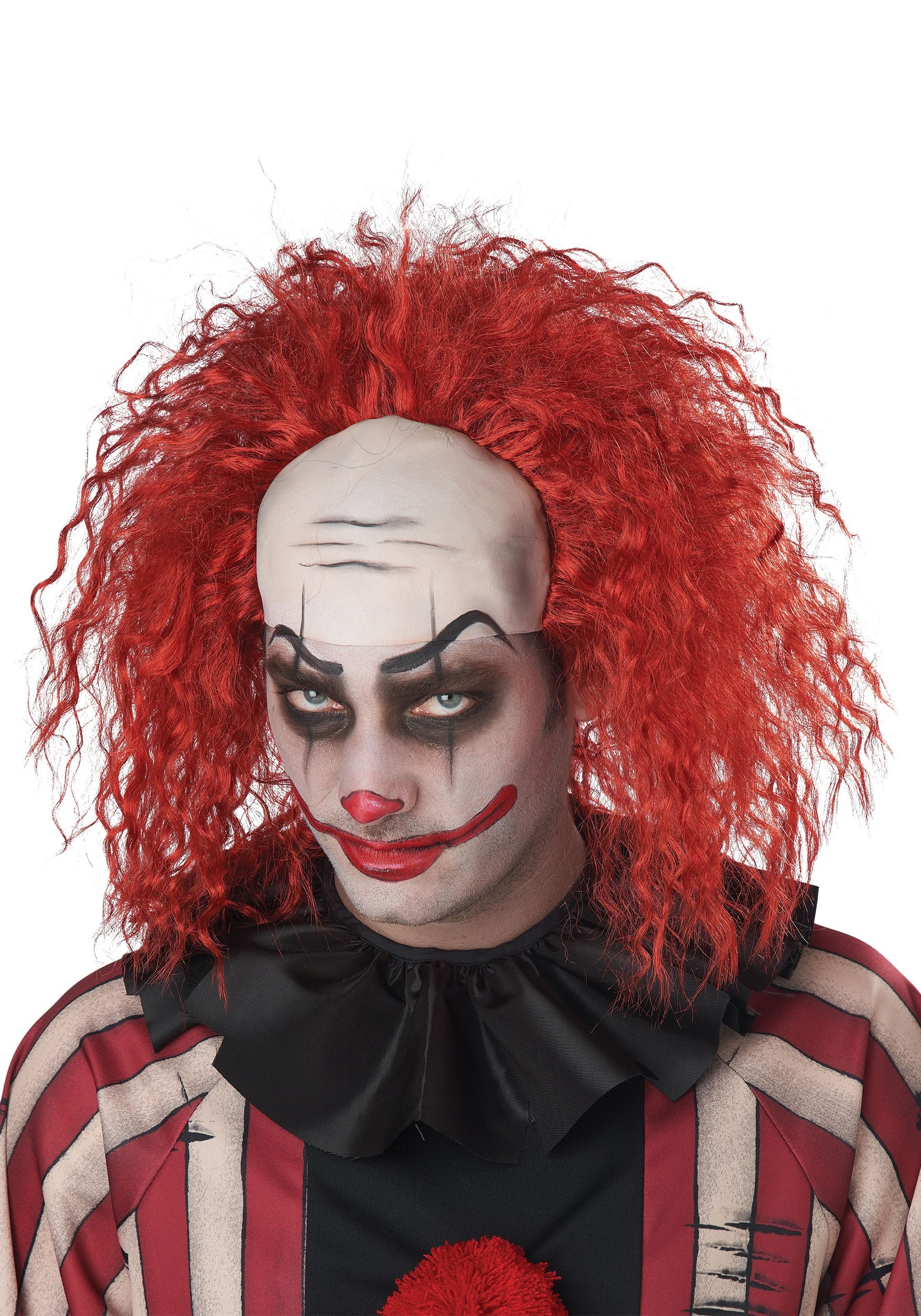 Red Creepy Clown Wig