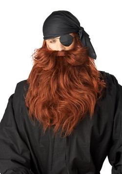Mens Red Pirate Beard