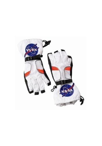 Kids White Astronaut Gloves