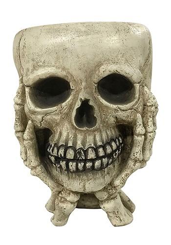 Skull w/ Hands Halloween Treat Bowl