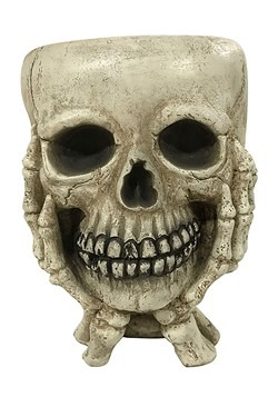 Skull w/ Hands Halloween Treat Bowl