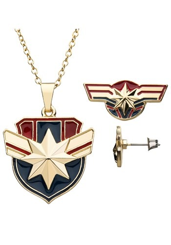 Necklace and Earring Captain Marvel Gift Set