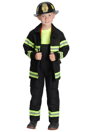 Click Here to buy Boys Black Fireman Costume from HalloweenCostumes, USA Funds & Shipping