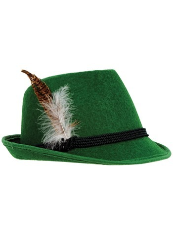 Mens Green Deluxe German Hat