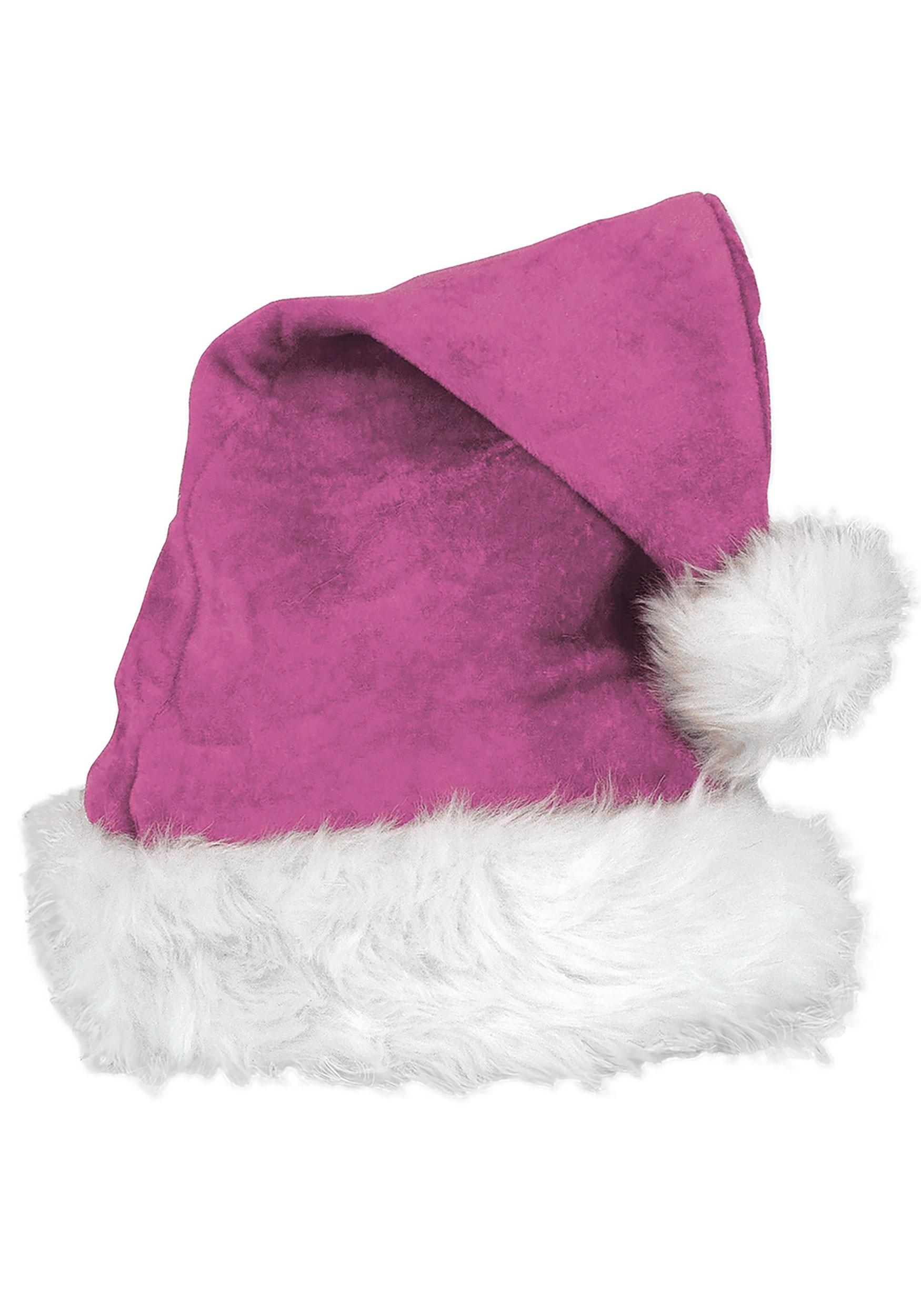 Pink_Velvet_Deluxe_Santa_Hat