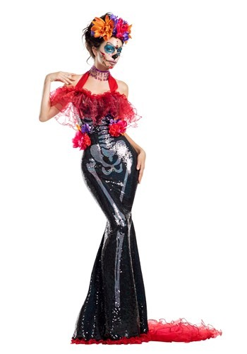 Womens Glamour Muerta Day of the Dead Costume