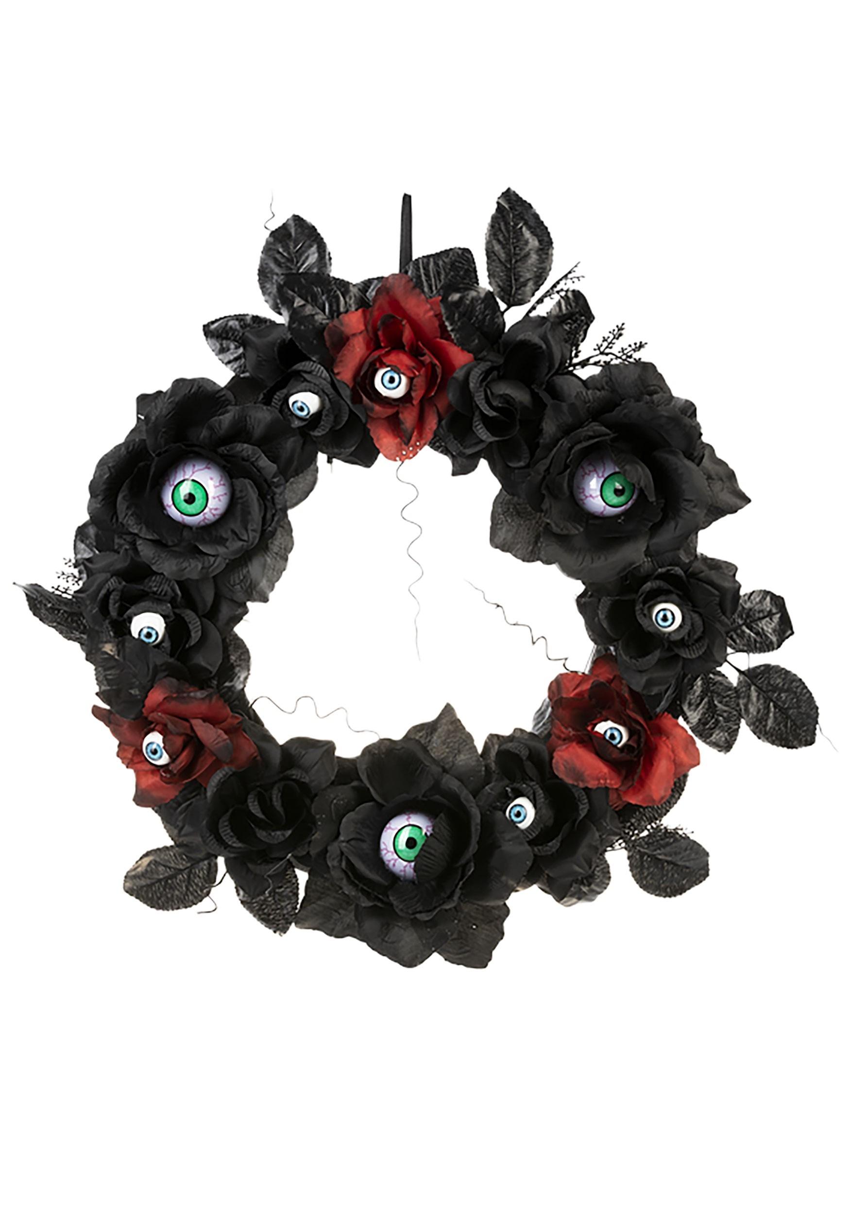 Light Up Eyeball Wreath Halloween Decoration