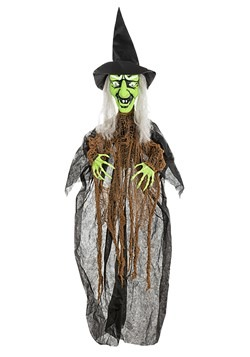 Cackling Green Witch Animatronic Halloween Decor